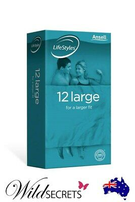 NEW Ansell Lifestyles Large Condoms (12 Pack), Sex Essential, Wild Secrets