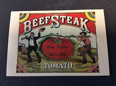 CAMPBELL'S BEEFSTEAK Ad Postcard Campbell's Soup Company  1996
