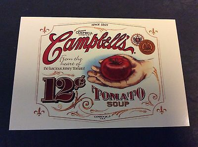 CAMPBELL'S TOMATO SOUP Ad Postcard 1996  Campbell's Soup Company