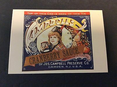 CAMPBELL'S CRANBERRY SAUCE Ad Postcard Campbell's Soup Company  1996