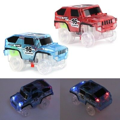 LED Car Toy for DIY Miraculous Magical Track Glowing In Dark Bend Flex Racing