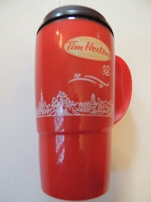 VTG TIM HORTON'S INSULATED TRAVEL COFFEE MUG SEALABLE LID. 16 oz DELUXE CAR TEA