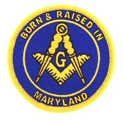 Two Master Mason Born And Raised in Maryland  Masonic Patches