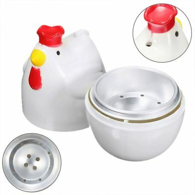 Cute Chicken Shaped Egg Boiler Steamer Microwave Cooking Tool Home Accessories