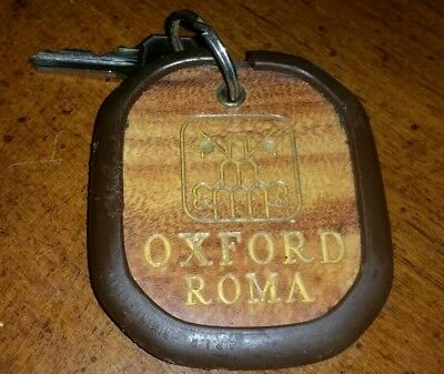 Vintage Collectable Oxford Hotel Key & Fob Roma ( Rome ) #254 Yale Italy