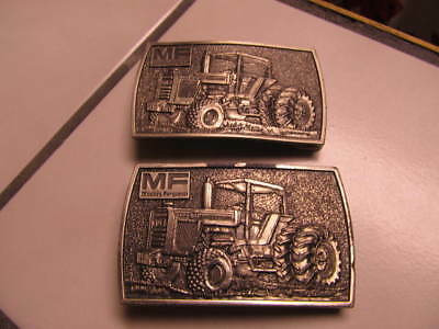 Vintage Set Of 2 Massey Ferguson 2580 Tractor Belt Buckles - Pewter - Lewis Corp