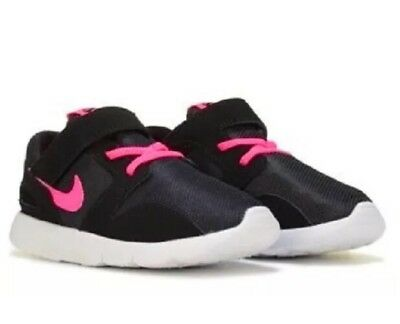 New Nike Infant/toddler Girl's Black/pink Kaishi Style 705494 001 Strap No  Tie