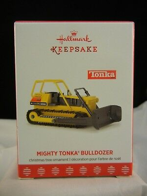 Hallmark Keepsake Ornament 2017 Mighty Tonka Bulldozer NIB