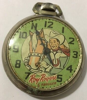Roy Rogers & Trigger Horse Western Pocket Watch!