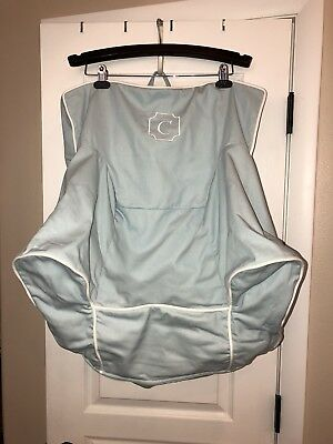 New Pottery Barn Kids My First Anywhere Chair Cover Light Blue/teal White  Piping