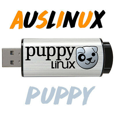 PUPPY LINUX On Bootable 8gb USB flash drive 32/64 bit