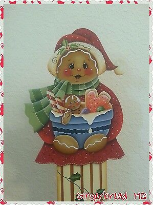 Hand Painted Wooden Standing, Gingerbread,  Christmas, Candies, Porch Decor, Red