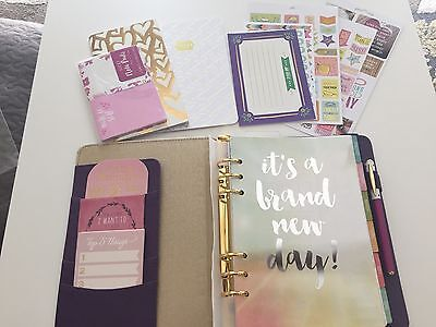 Pretty Purple Planner Kit - Ring-bound A5 binder, Stickers, Stamps and more