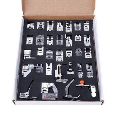 32pc Domestic Sewing Machine Presser Foot Set For Janome Brother Singer DIY Tool