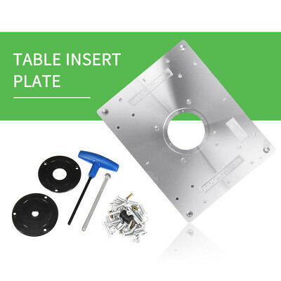 Aluminum plunge router table insert plate w ring for diy aluminum plunge router table insert plate w ring for diy woodworking work bench greentooth Images