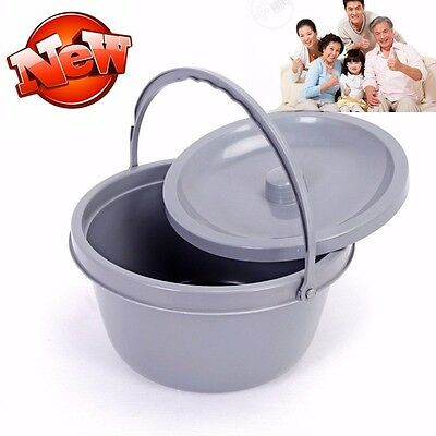 New Brand Ligh Weight Commode bucket with Lid and handle Home Care Z