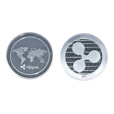 1PCS Silver Ripple Commemorative Round Collectors Coin XRP Plated Coins Gifts