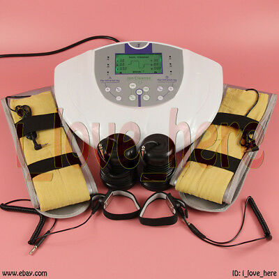 LCD Pro Dual Ionic Detox Foot Bath Cell Cleanse Spa System Acupuncture Therapy