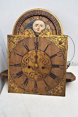 Brass  Dial 8 day moonroller Movement Grandfather Long Case Clock Early