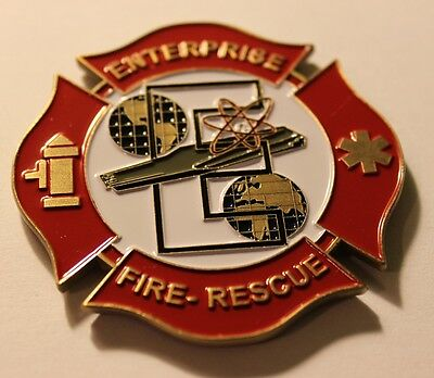 USS ENTERPRISE BIG E CVN-65 Fire and Rescue ASFP 2012 Final Deployment Coin