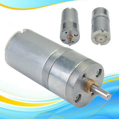 12V DC 1000RPM Mini High Torque Gear Box Motor Speed Reduction Reducer Motor