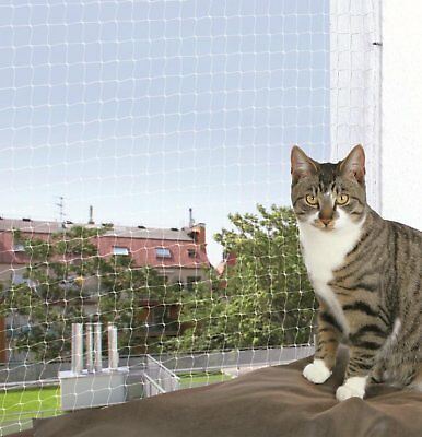 Trixie Protective Net Cat Flaps Steps Outdoor Balcony Nets 4 x 3 m, Transparent