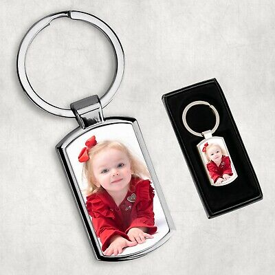 Personalised Custom Printed Photo Keyring With Any Picture - With Giftbox