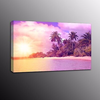 Modern HD Canvas Print Coconut tree sunrise Art Wall Home Decor painting Picture