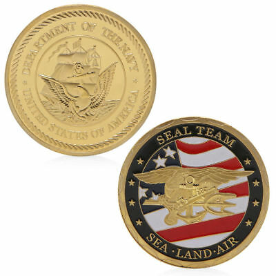 Sea Land Air Seal Team Golden Commemorative Challenge Coin