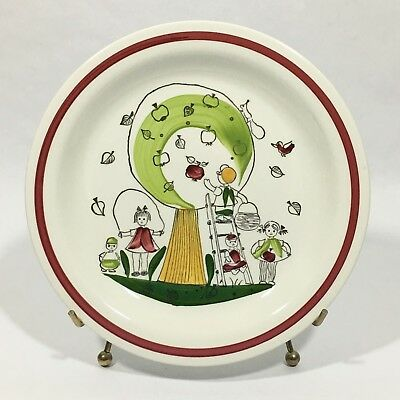 Rorstrand Sweden Appel Pappel Children Playing Apple Tree Plate Dish