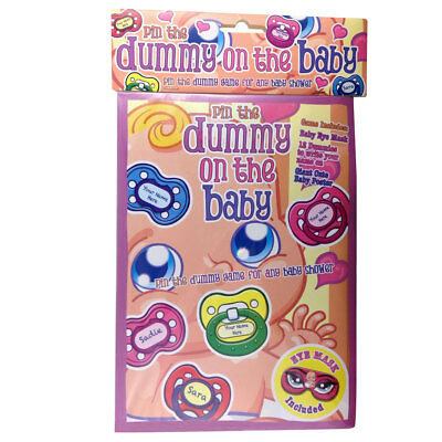Baby Shower Pin The Dummy On The Baby With Eye Mask, Dummies & Poster