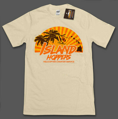 f3bf98ca Island Hoppers Magnum PI Inspired Mens T-Shirt Tee 80's Tom Selleck TV Show