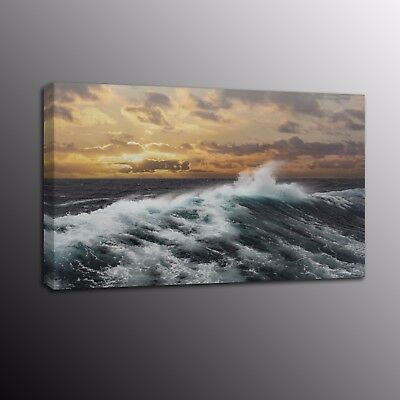 Modern HD Canvas Print Painting Sea Wave Scenery Wall Art Picture Home Decor