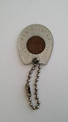 Vintage Good Luck Penny Keychain Westchester High