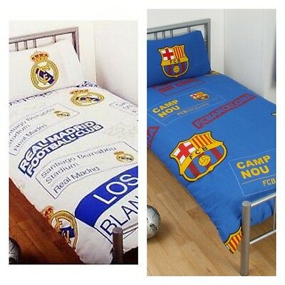 New Official Spain Barcelona Real Madrid Football FC Bedding Set Duvet Sale