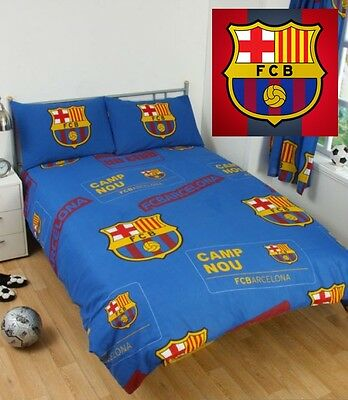 Official Barcelona FC Spain Football Club Single Double Bedding Set Duvet Fleece