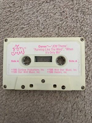 Jem and the Holograms DANSE cassette tape accessory vintage Hasbro