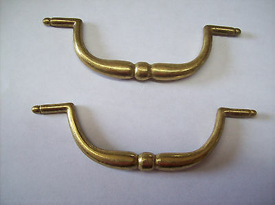vintage cast brass drawer pull