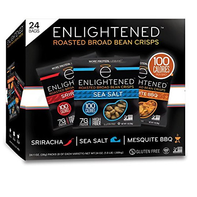 Enlightened Plant Protein Gluten Free Roasted Broad (Fava) Bean Snack, Variety P