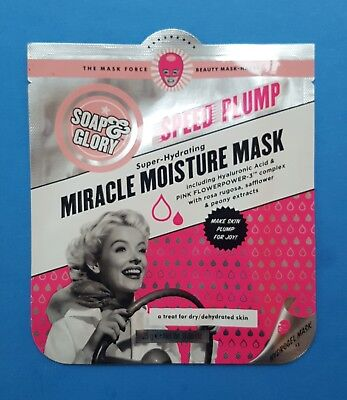 Soap And Glory Speed Plump - Super Hydrating Miracle Moisture Mask 25G