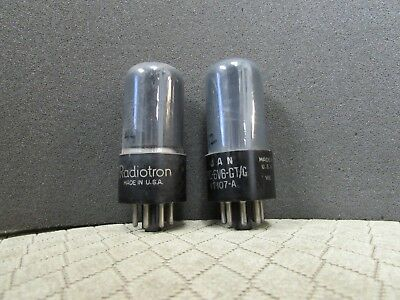 Matched Pair Of 6V6Gt Rca Vacuum Tubes (Bjr1067)
