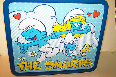 Metal Lunch Box-The Smurfs+ 2 Smurf Figures