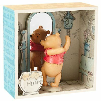 Winnie the Pooh Hundred Acre Wood Shadow Box - Pooh Looks in the Mirror Limited