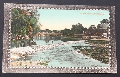 Postcard On The Tyne At Haddington East Lothian Scotland Unposted 1494