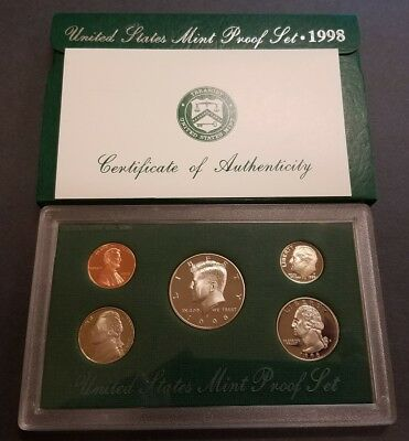 1998-S CLOSE 'AM' 1c LINCOLN MEMORIAL CENT ** SEALED IN PROOF SET * ERROR FS-901