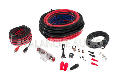 New Car Amp Install Kit 4 Gauge Power and Ground Wire Amplifier Package