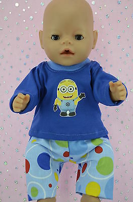 "Play n Wear Doll Clothes To Fit 17"" Baby Born SPOT PANTS~T-SHIRT"