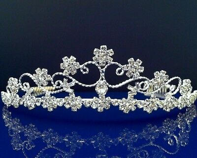SparklyCrystal Bridal Floral Rhinestone Crystal Prom Wedding Crown Tiara 7275