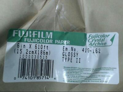 """Fujifilm 6"""" x 610' One Roll Fujicolor Paper Glossy Crystal Archive Paper Type II"""