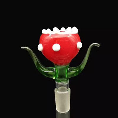 14mm or 18mm Piranha Plant Glass Slide Bowl - Super Mario Piranha Flower Plant